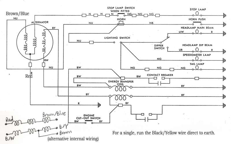 wiring diagram 1965 bsa a65