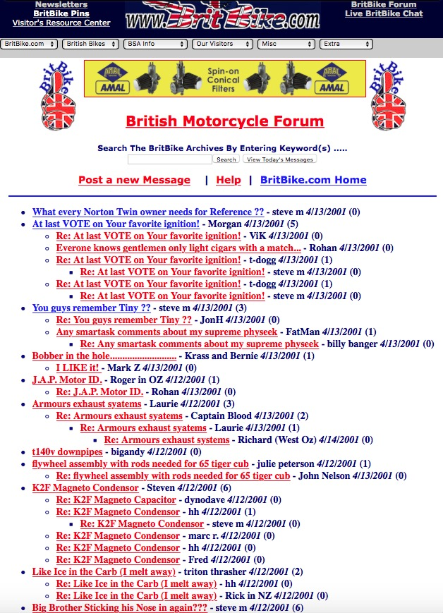 The old Britbike forum