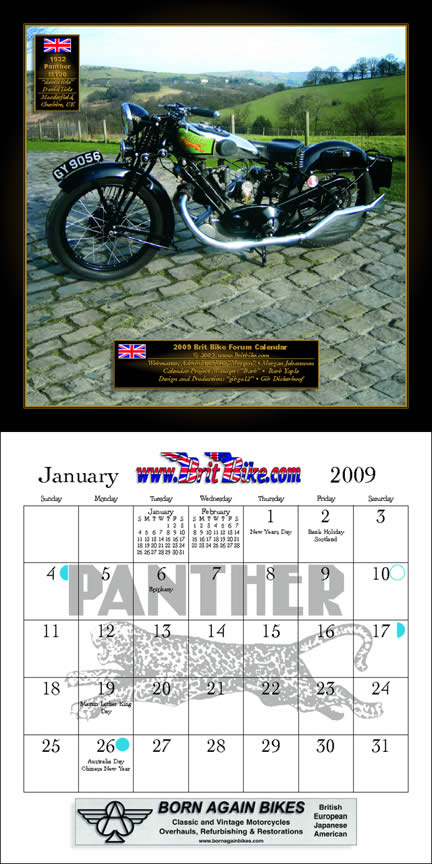 2009 BritBike Forum Calendar: January!